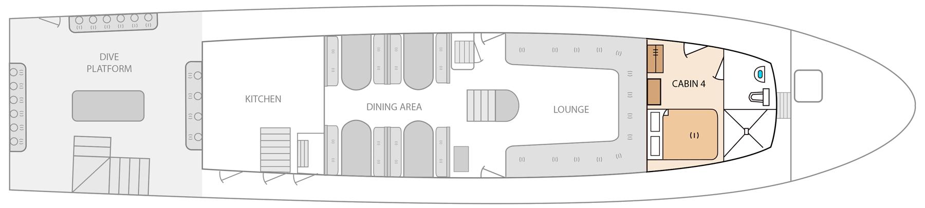 main deck aqua yacht