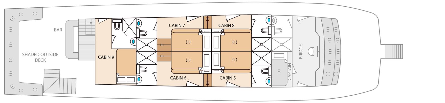 upper deck aqua yacht