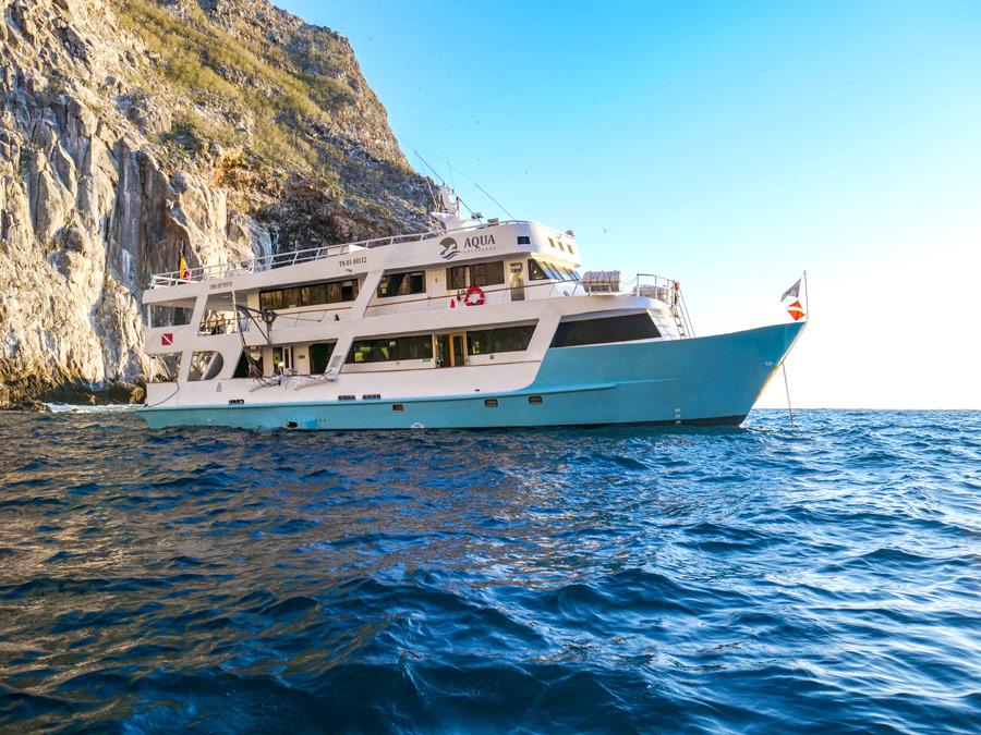 Aqua Yacht exterior Galapagos Islands liveaboard